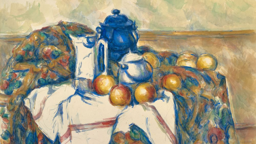 Still Life with Blue Pot by Paul Cézanne