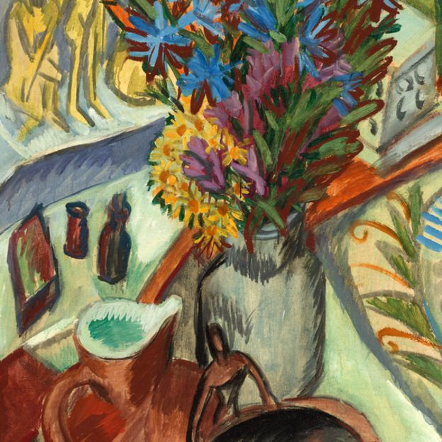 Still Life with Jug and African Bowl by undefined