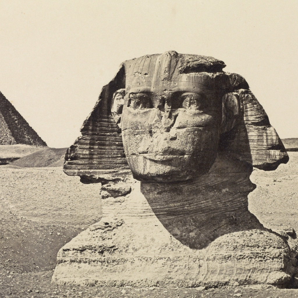 The Sphinx and The Third Pyramid of Geezah, Egypt by undefined