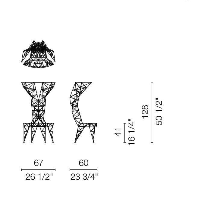 cappellini pylon chair armchair dimensions