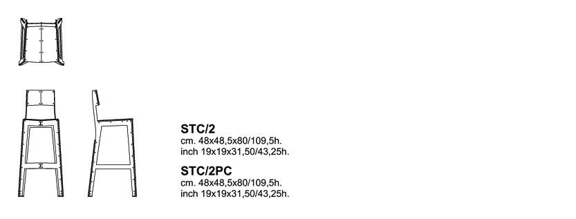 cappellini stitch stool dimensions