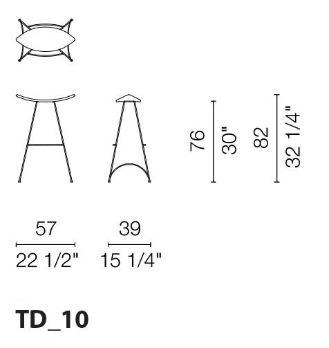 cappellini stool dimensions