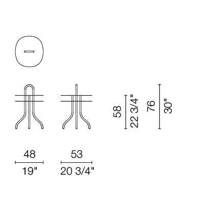 cappellini taco side table dimensions