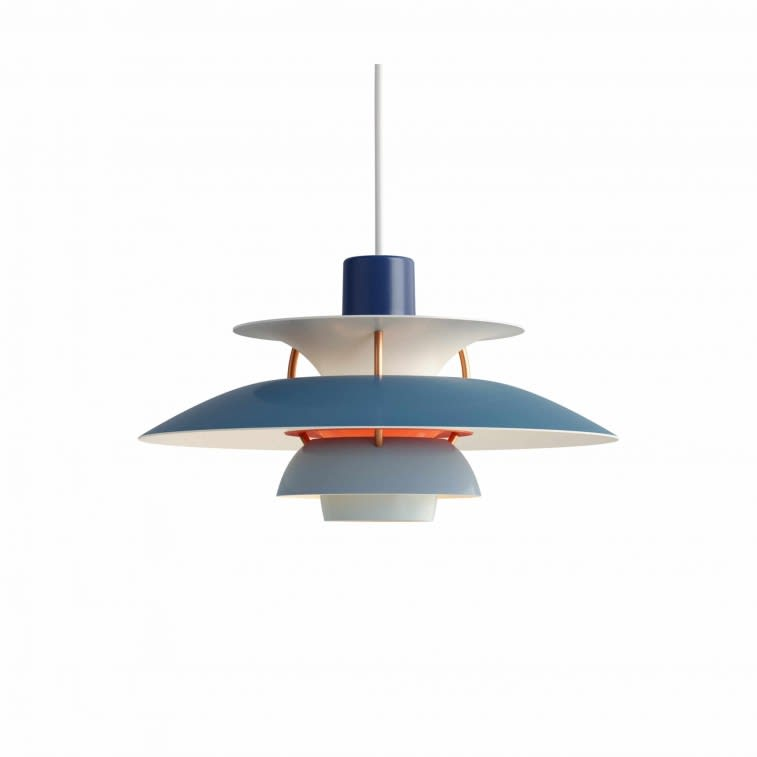 Louis Poulsen PH 5 Mini Lamp hues of blue