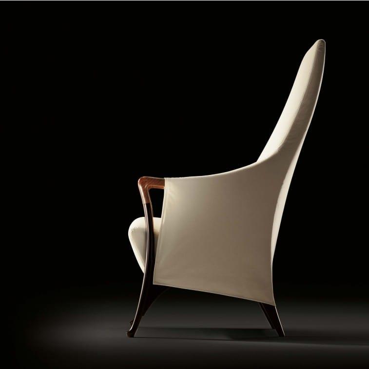 Progetti 63240 Wing chair in beech wood-Armchair-Giorgetti-Centro Ricerche Giorgetti
