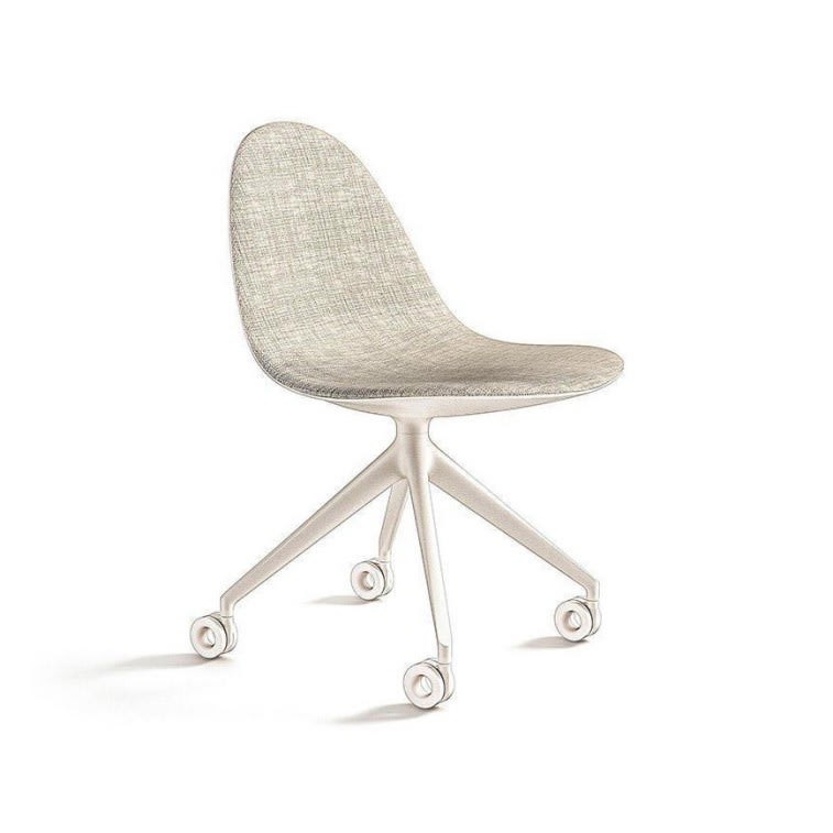 cassina 245 caprice chair 4 spokes with wheels swiveling base