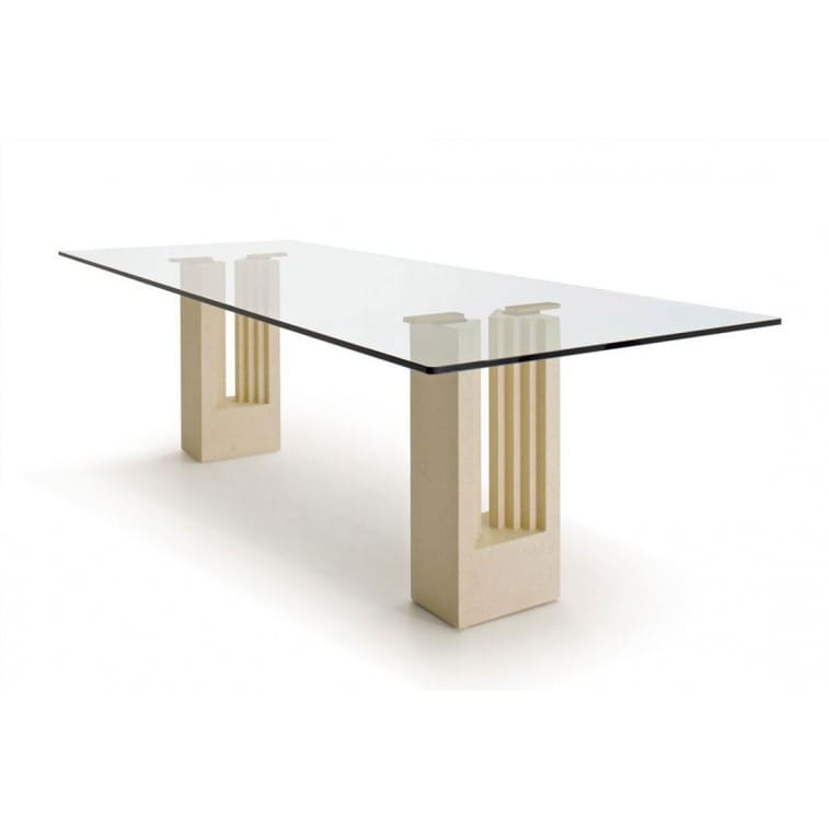 cassina delfi table glass
