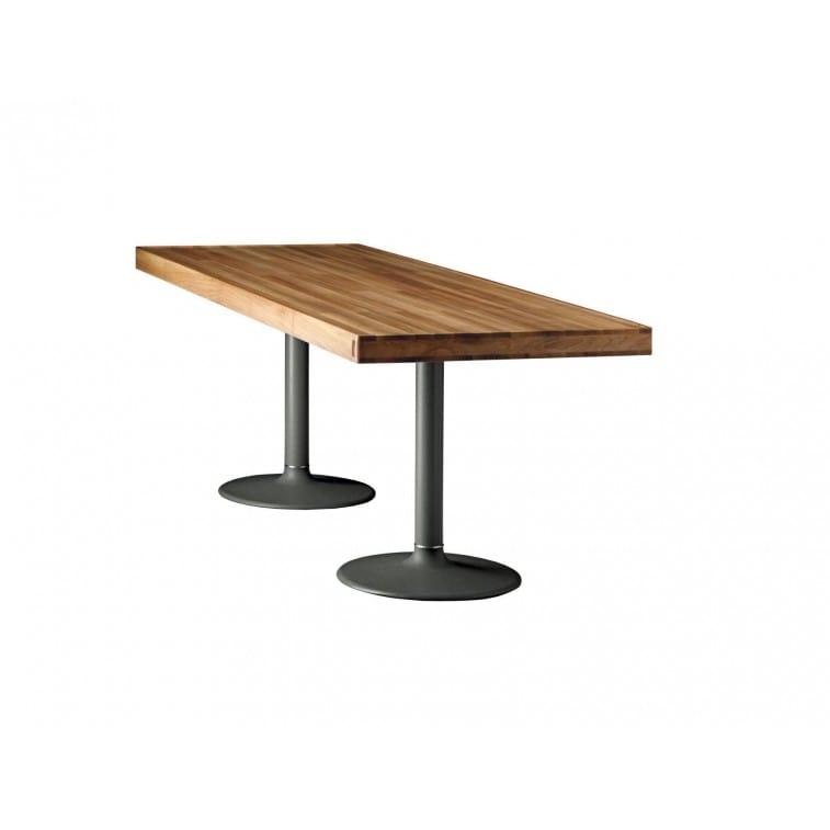 cassina lc11p table natural walnut
