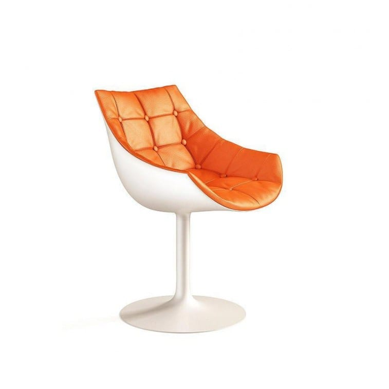 cassina 246 passion armchair tulip-shaped swiveling base