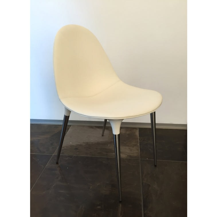 cassina caprice chair white leather