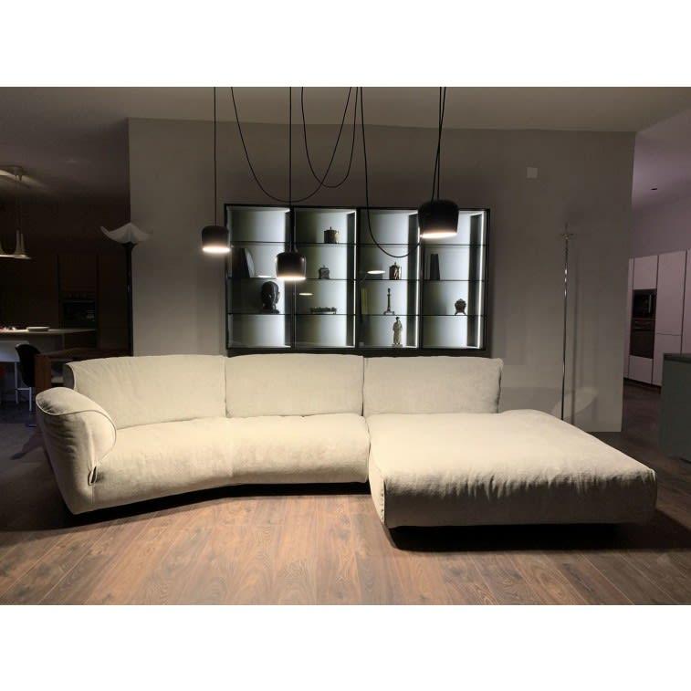 edra grande soffice grey sofa