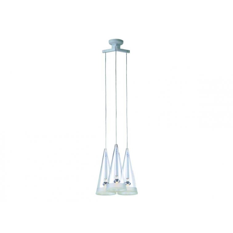 Fucsia 3-Suspension Lamp-Flos-Achille Castiglioni