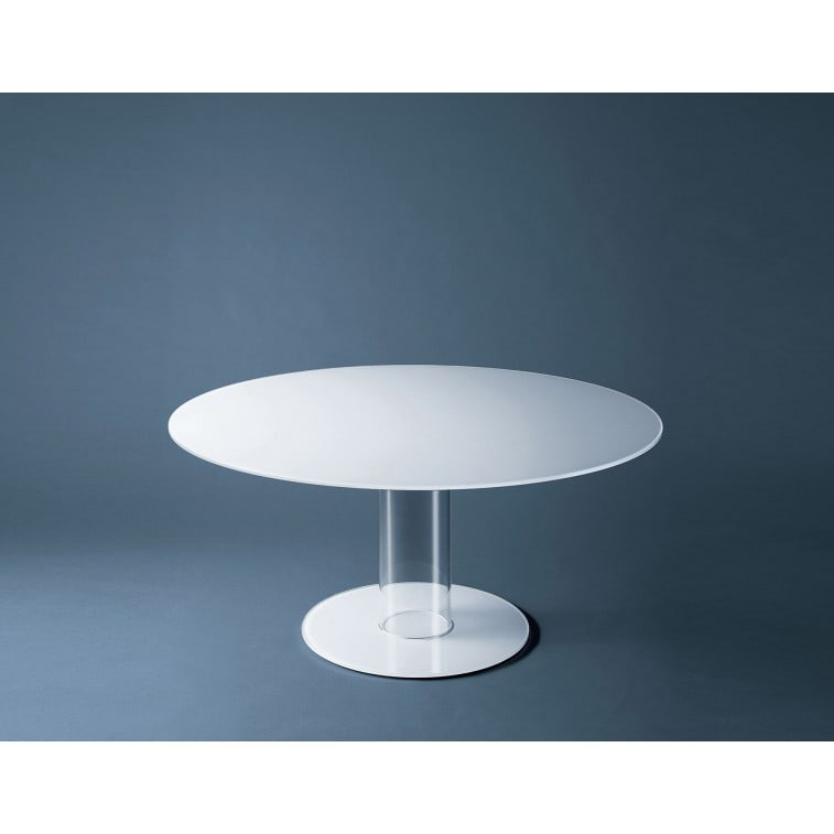 Hub Tavoli Alti - Opaque-Table-Glas italia-Piero Lissoni