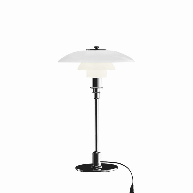 Louis Poulsen Ph 3/2 table lamp high lustre chrome plated