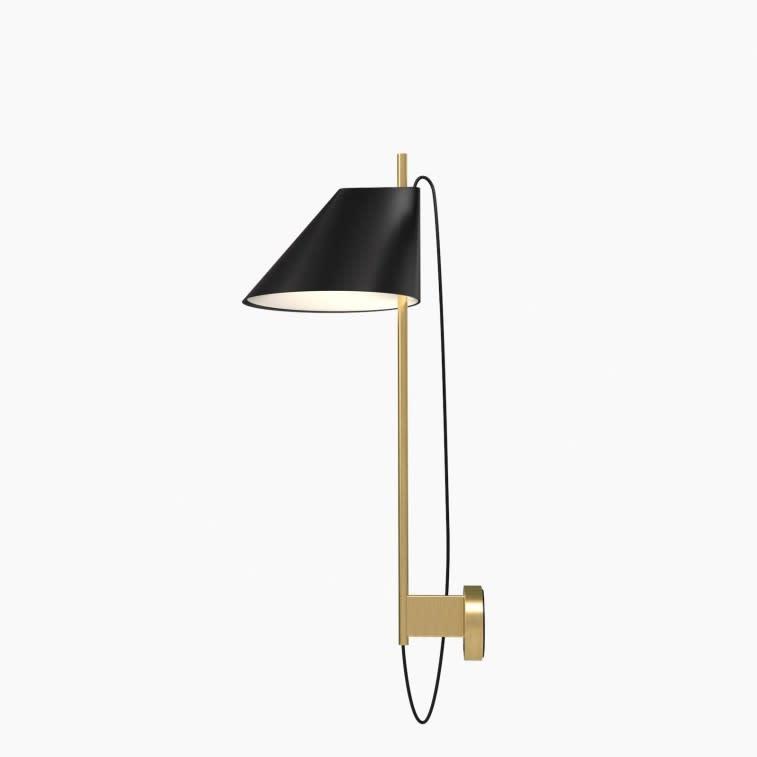 Louis Poulsen Yuh wall lamp black and brass