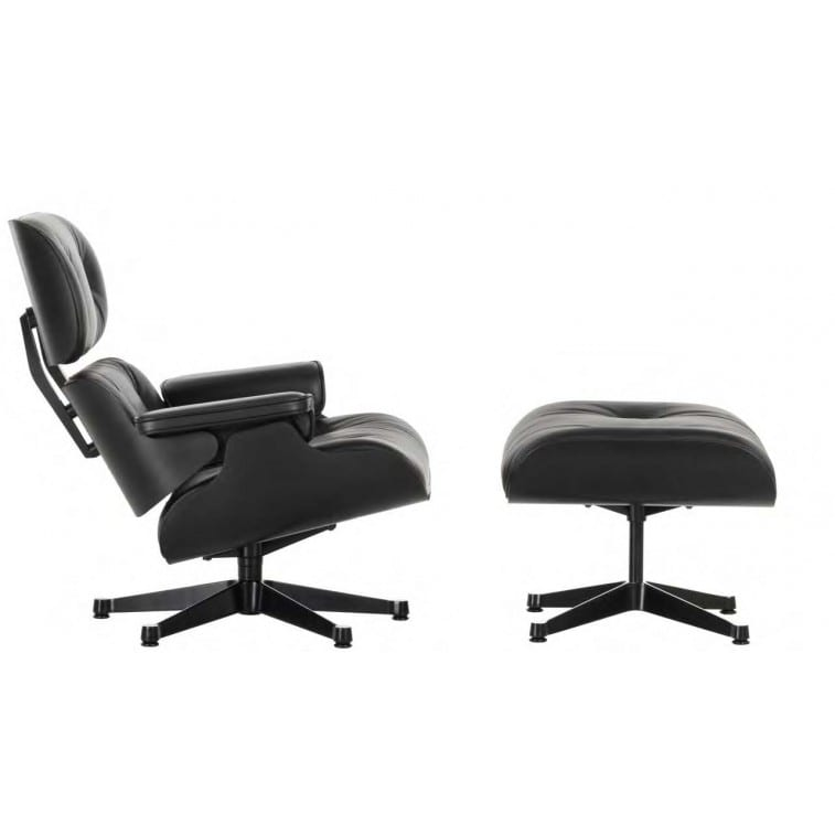 Lounge Chair & Ottoman Black New Dimensions-Lounge Chair-VItra-Charles & Ray Eames