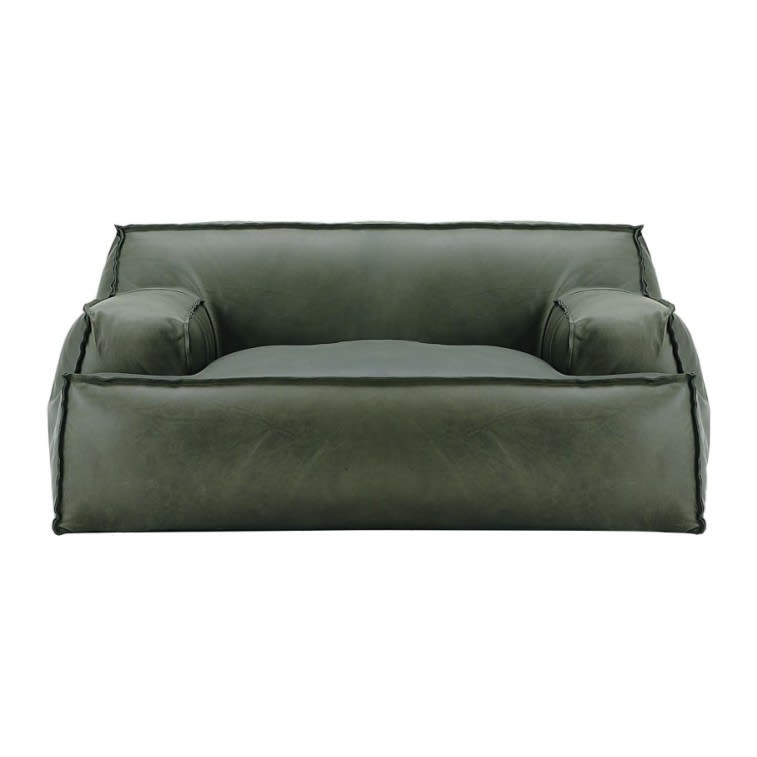 Baxter Damasco Love Seat Armchair Kashmir Emeraud
