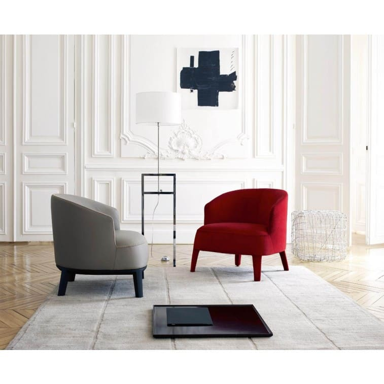 Maxalto Febo Armchair Curved Red White