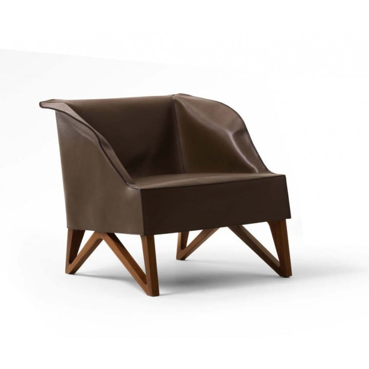 Mobius 62920 Saddle Leather Armchair-Armchair-Giorgetti-Umberto Asnago