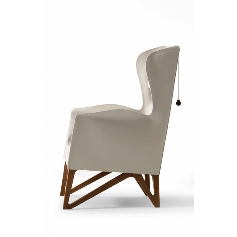 Mobius 62930 Saddle Leather Wing chair-Armchair-Giorgetti-Umberto Asnago
