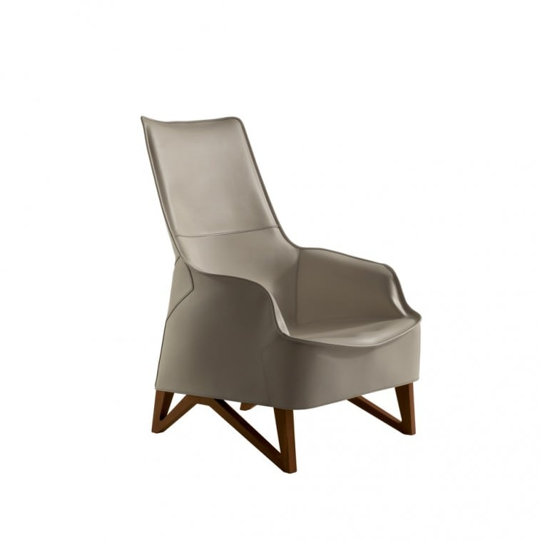 Mobius 62940 Saddle Leather Wing chair-Armchair-Giorgetti-Umberto Asnago