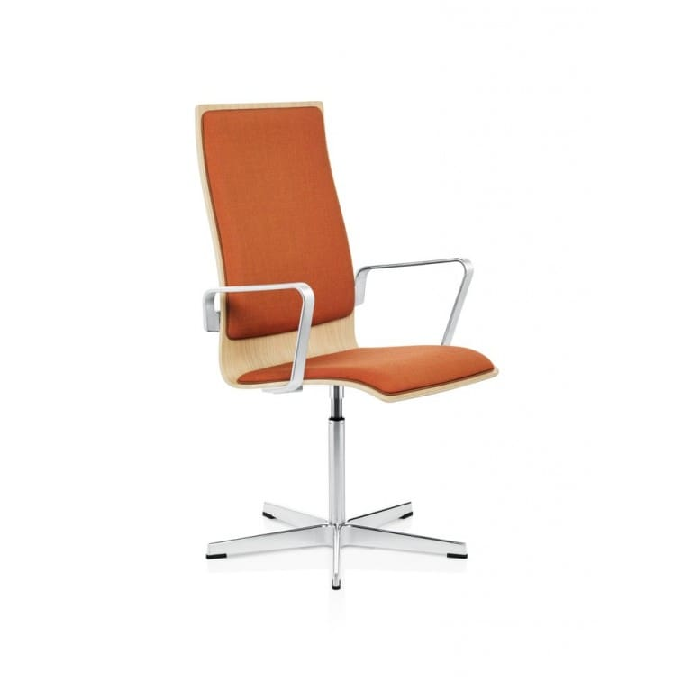 Oxford Chair Front Upholstered-Chair-Fritz Hansen-Arne Jacobsen