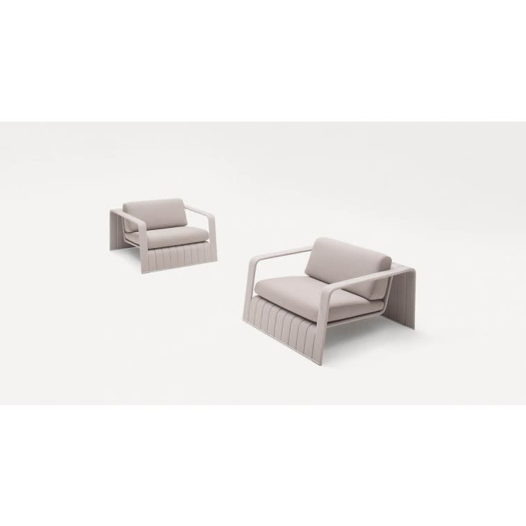 paola lenti frame outdoor armchair