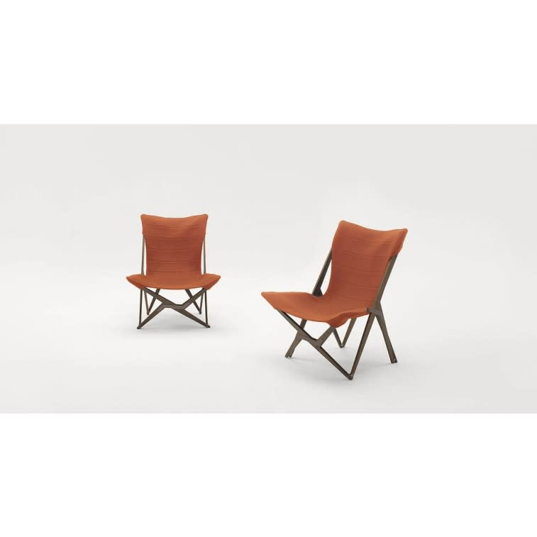 paola lenti lella outdoor armchair