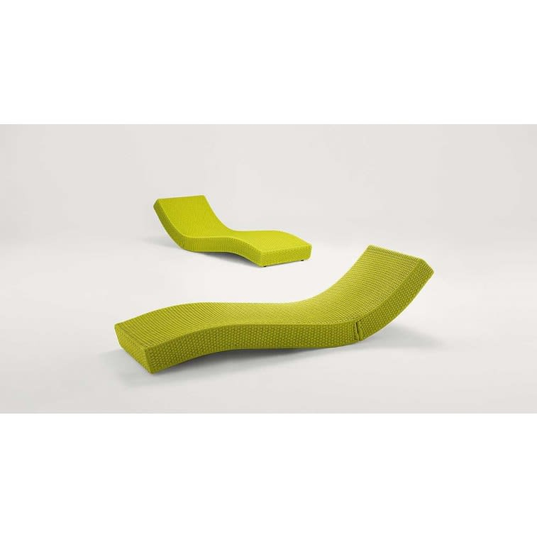 paola lenti wave outdoor sun bed