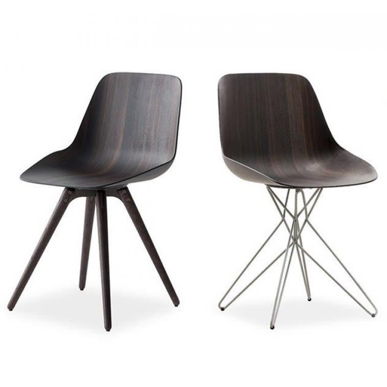 Poliform Harmony Chair metal and wood