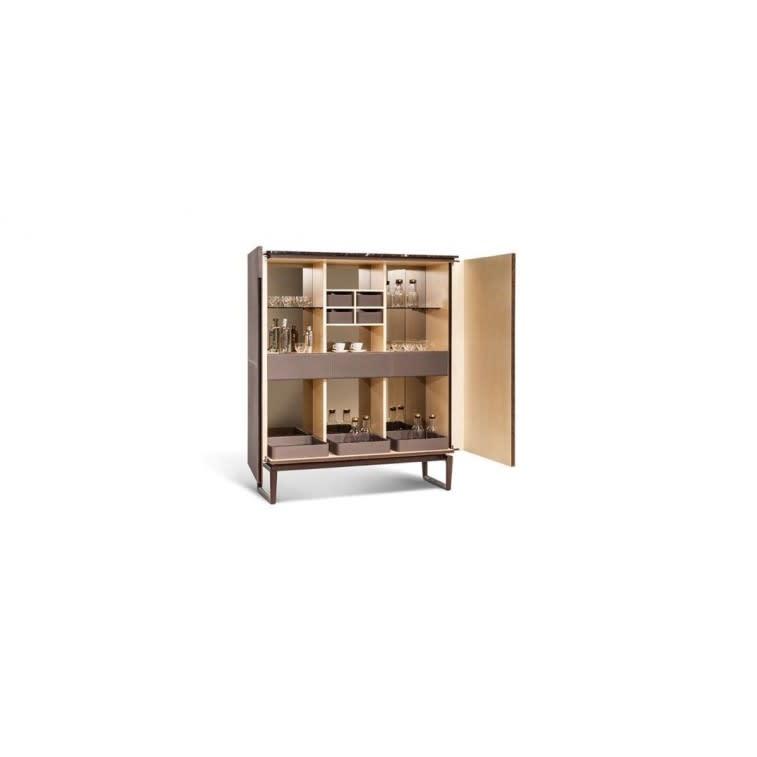 Poltrona Frau drinks cabinet leather