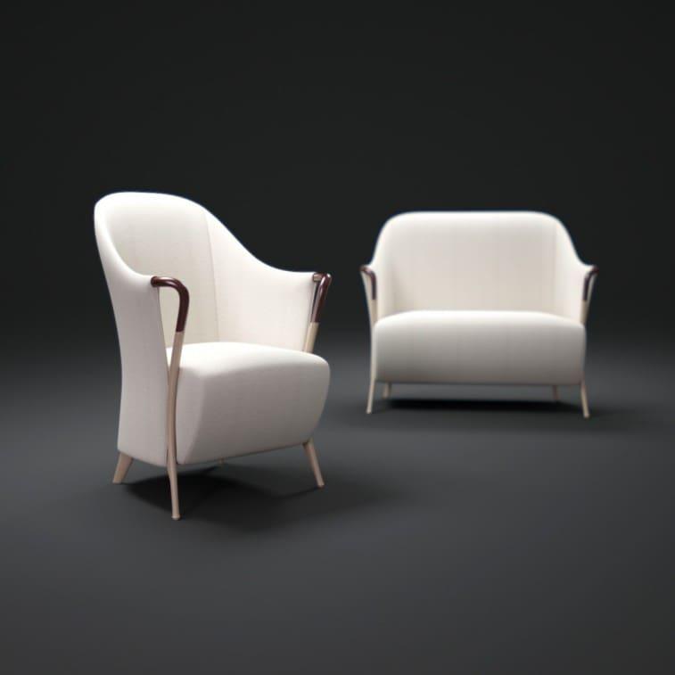 Progetti 63260 Armchairr in beech wood-Armchair-Giorgetti-Centro Ricerche Giorgetti