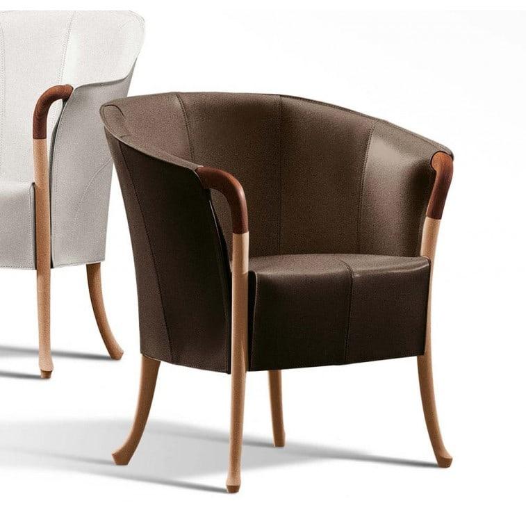 Progetti Saddle Leather 64230-Armchair-Giorgetti-Centro Ricerche Giorgetti