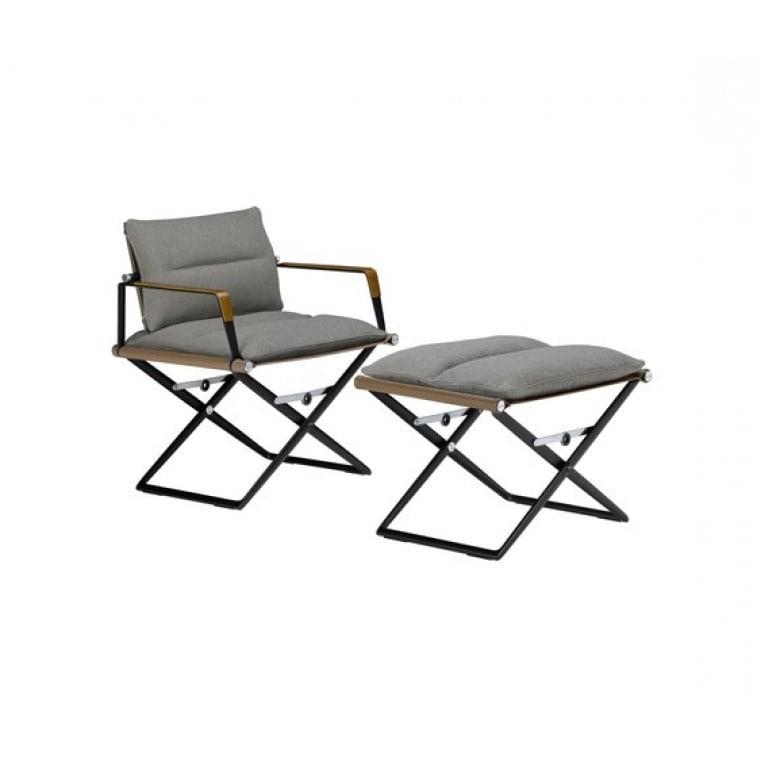 SeaX Leather Footstool -Ottoman-Dedon-Jean-Marie Massaud