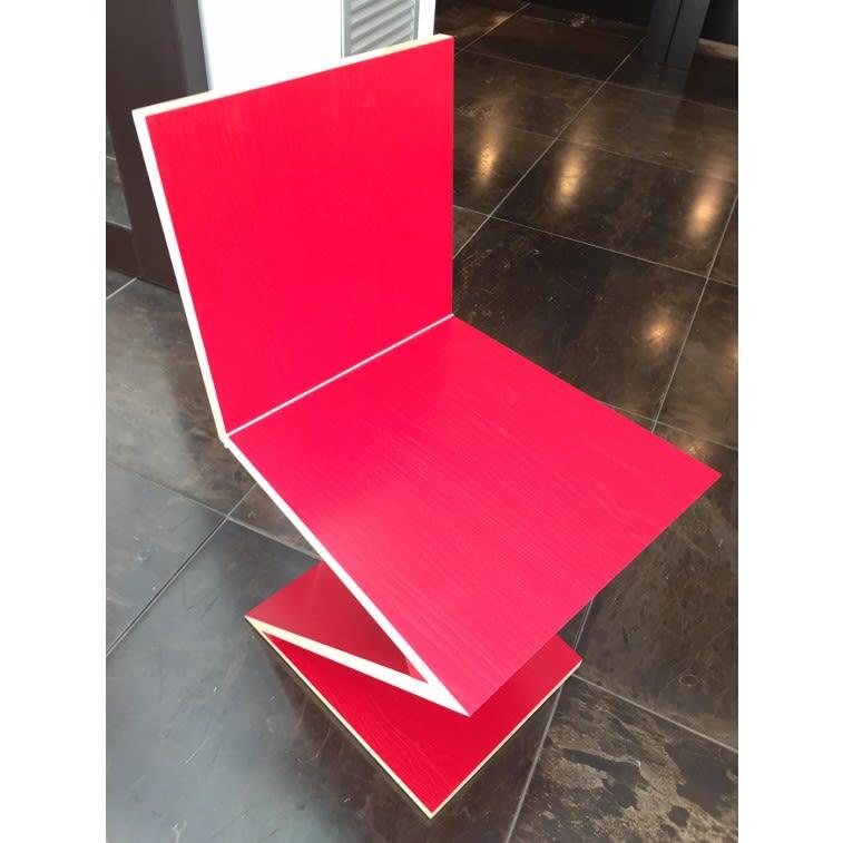 sedia cassina zig zag rossa