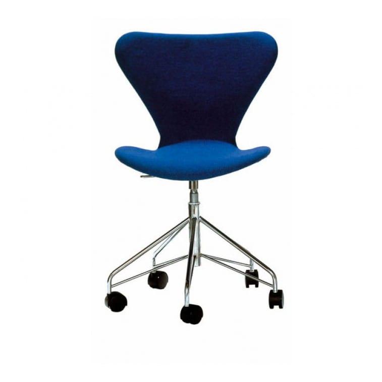 Series 7-3117-Padded- Swivel -Chair-Fritz Hansen-Arne Jacobsen