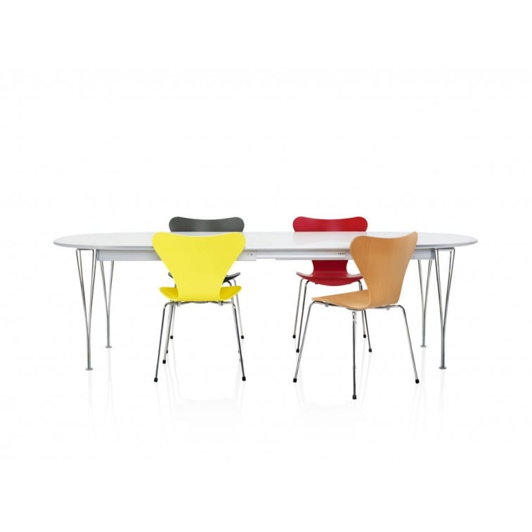 Series Table extendable-Table-Fritz Hansen-Arne Jacobsen Bruno Mathsson Piet Hein