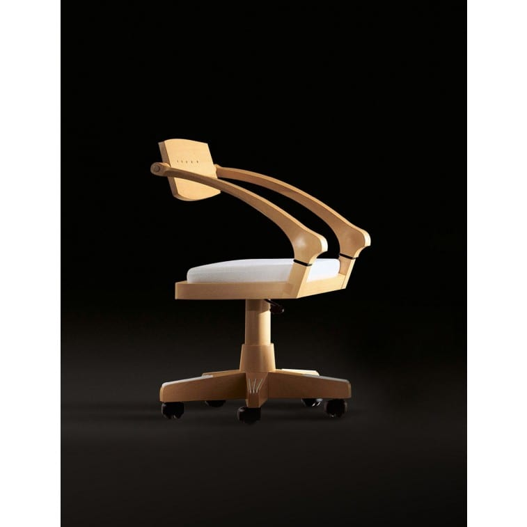 Spring Small armchair in beech wood-Armchair-Giorgetti-Massimo Scolari