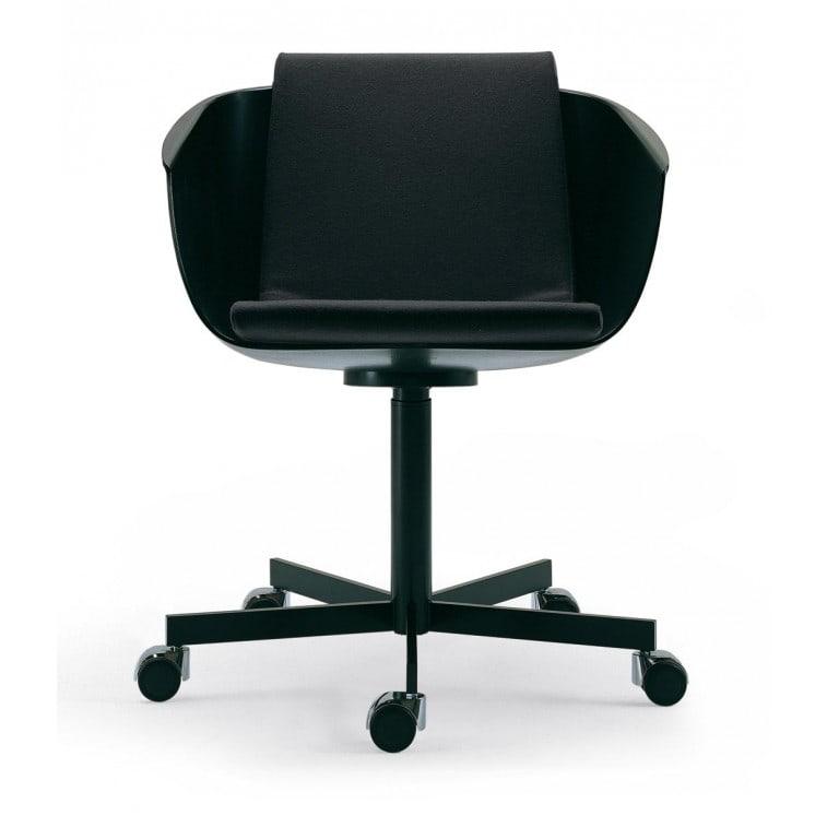Strip Revolving Wheels Chair-Armchair-Poliform-Carlo Colombo