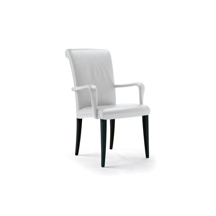 Vittoria Chair with armrests-Chair-Poltrona Frau-Poltrona Frau