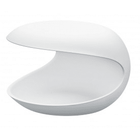 White Shell-Side Table-Zanotta-Salvatore Indriolo
