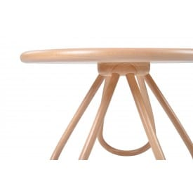 Arch Coffee Table Wood Top-Side Table-Gebruder Thonet Vienna-Front