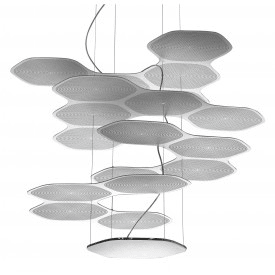 artemide space cloud ross lovegrove suspension lamp