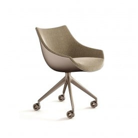 cassina 248 passion armchair 4 spokes with wheels swiveling base