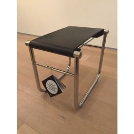 LC9 stool chrome black-Stool-Cassina-Charlotte Perriand Jeanneret Le Corbusier