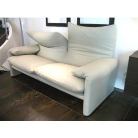 Maralunga Two-Seater Sofa-Sofa-Cassina-Vico Magistretti
