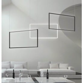 nemo spigolo black & white vertical ceiling light