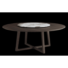 Poliform Concorde Round table spessart oak with lazy susan