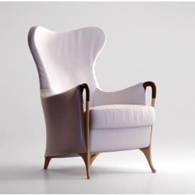 Progetti 63340 Wing chair in beech wood-Armchair-Giorgetti-Centro Ricerche Giorgetti