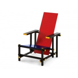 Red and blue-Armchair-Cassina-Gerrit T Rietveld